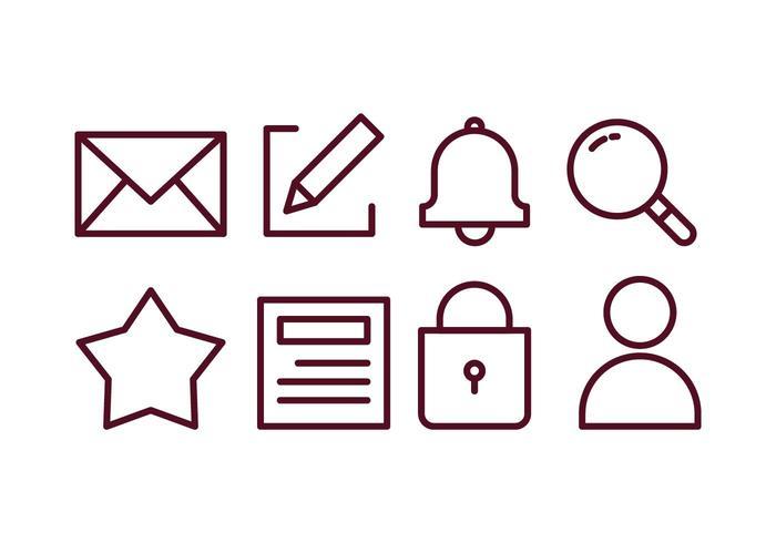 Set di icone di Blogger Content Creator