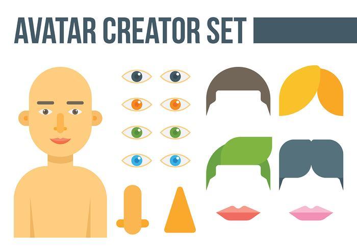 Avatar-Ersteller-Vektor-Icons