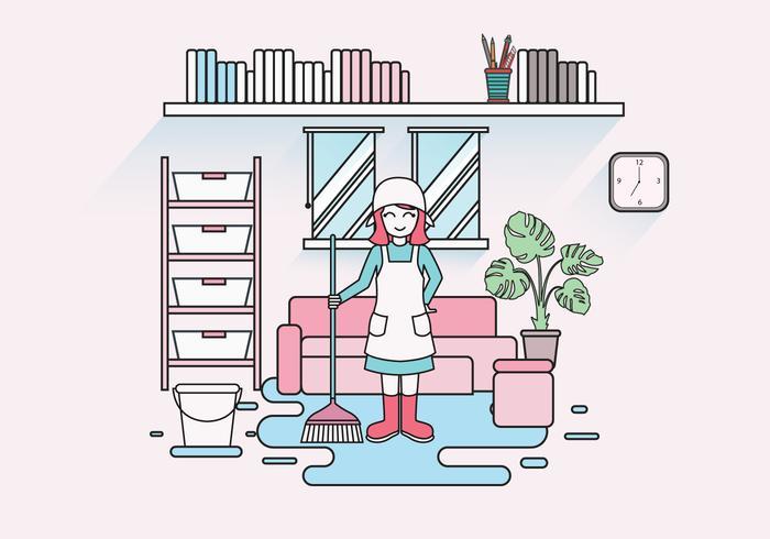 Housekeeper Caretaker Vector
