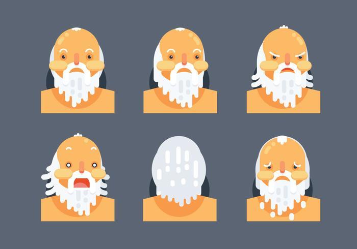 Socrates, personagem, cabeça, liso, vetorial, ilustração