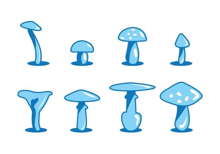 Vetores de cogumelos de desenho animado