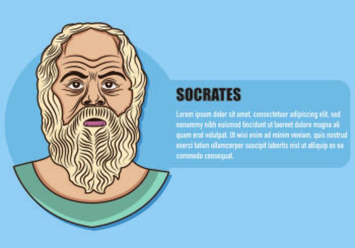 Ilustración de Sócrates