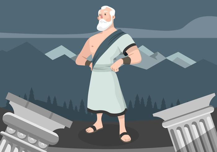Ilustración de Vector de personaje de dibujos animados de Sócrates