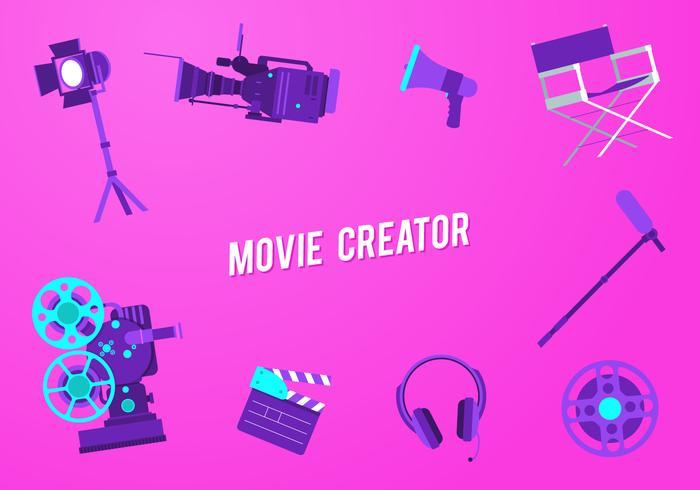 Movie Creator Free Vector
