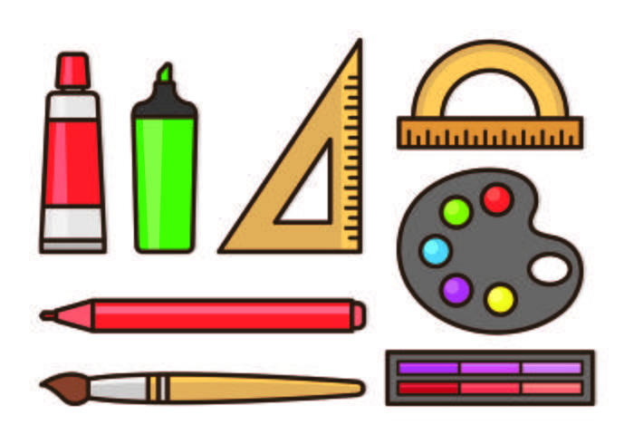 Set of Art Creator Icon