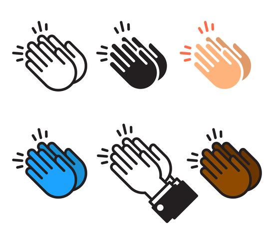 Vector de icono de manos aplaudiendo