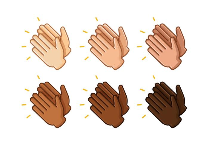 Clapping Hands Vectors