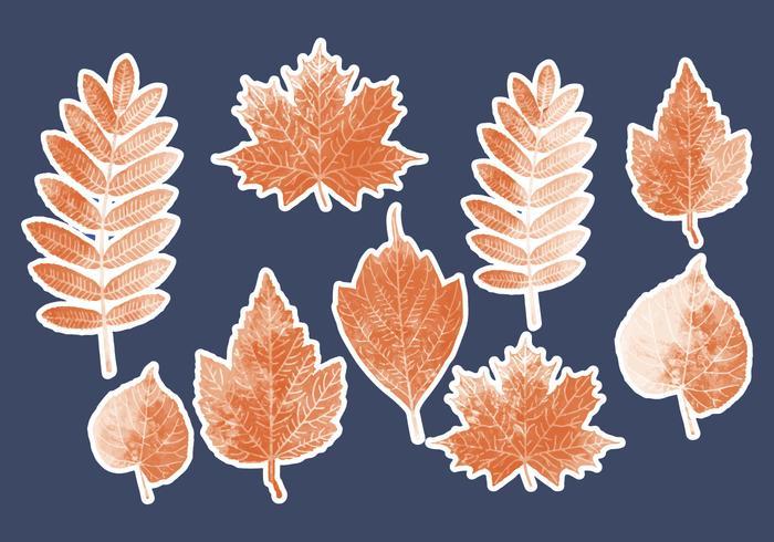 Vektor gepunktete Blätter Sammlung