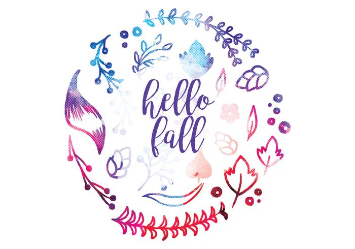 Vector Hello Fall Decoration