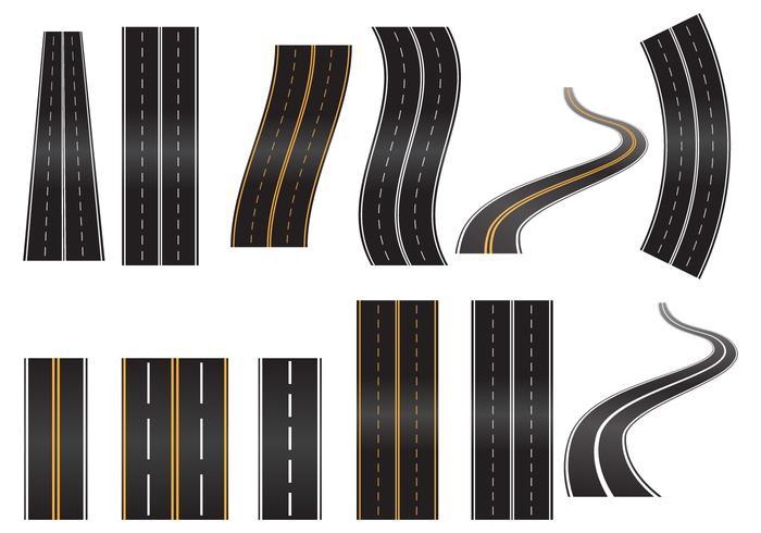 motorvägen vetor set