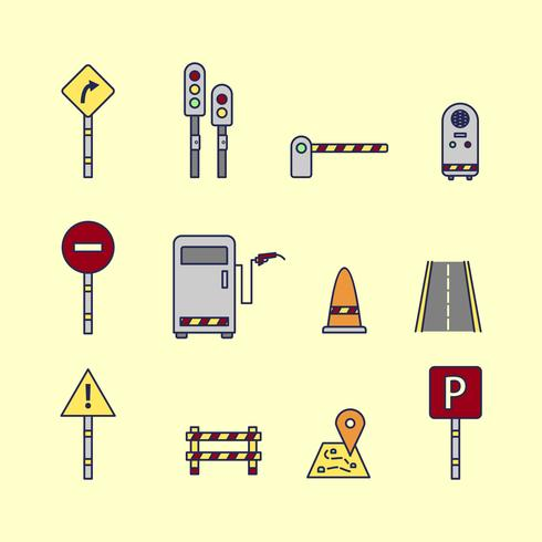 Toll and Traffic Sign Vectors