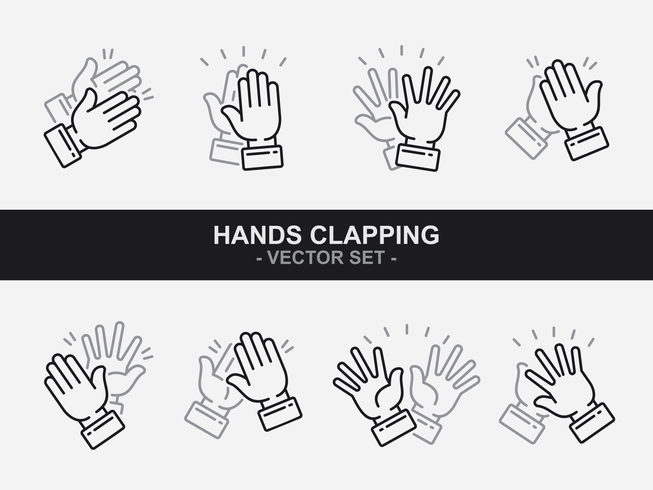 Hands Clapping Icons Vector