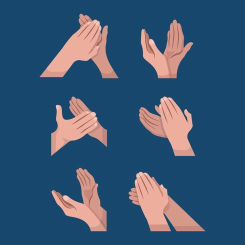 Hands Clapping Vector Element Illustration