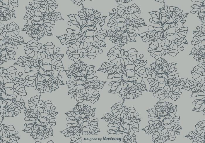 Vektor-süße Erbsen-Blumen-nahtloses Muster