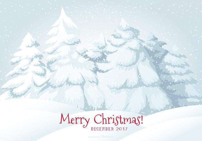 2017 glatt jul snö scen illustration