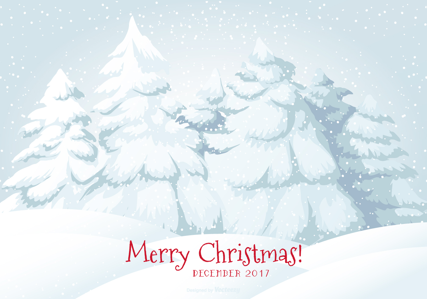 2017 Frohe Weihnachten Schnee Szene Illustration - Kostenlose Vektor ...