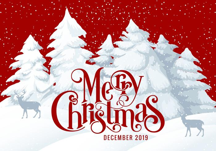 Christmas Graphics 2019.Merry Christmas 2019 Card Illustration Download Free