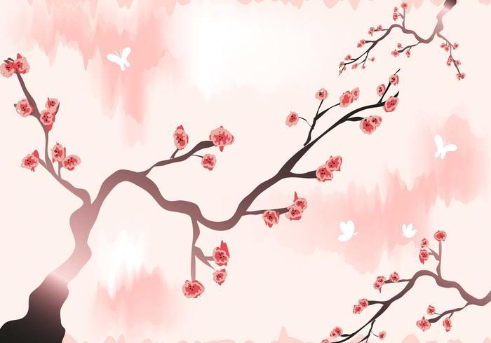 Plum Blossom Wallpaper Vector