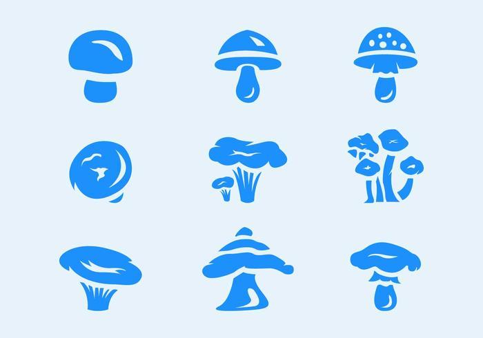 Sex svampar Vector