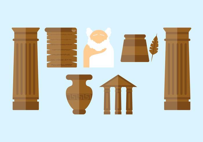 Gratis utestående grekiska vektorer