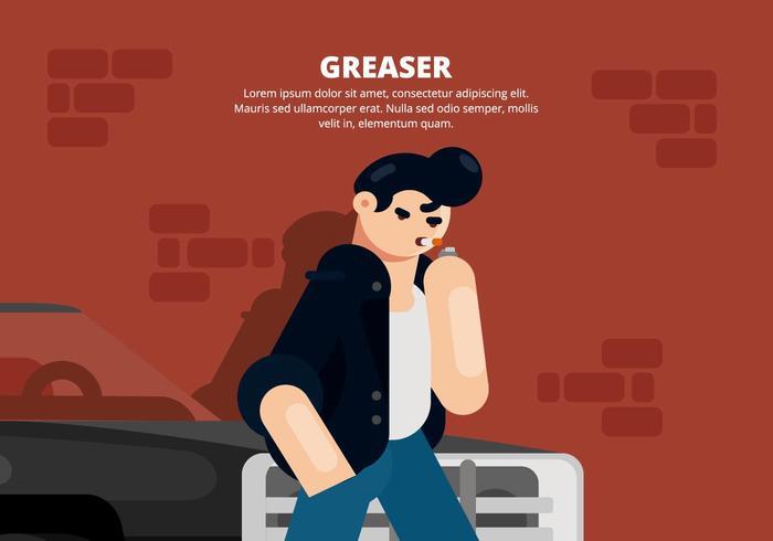 greaser illustration