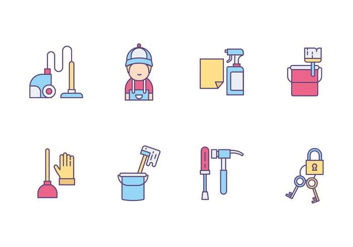 Handyman och Caretaker Ikoner