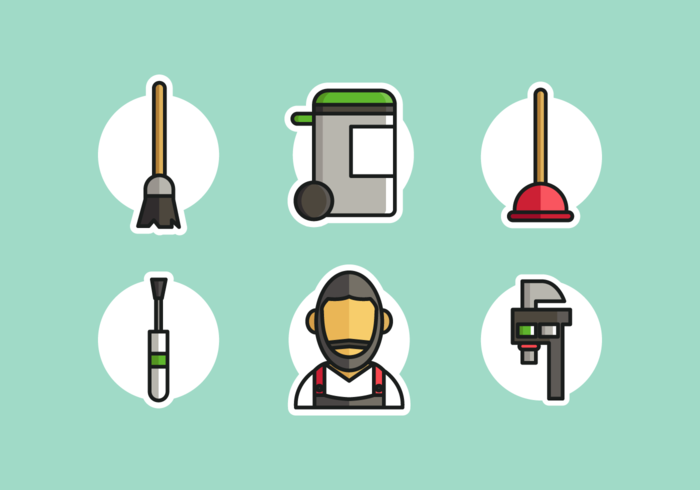 Caretaker Icons Free Vector Pack