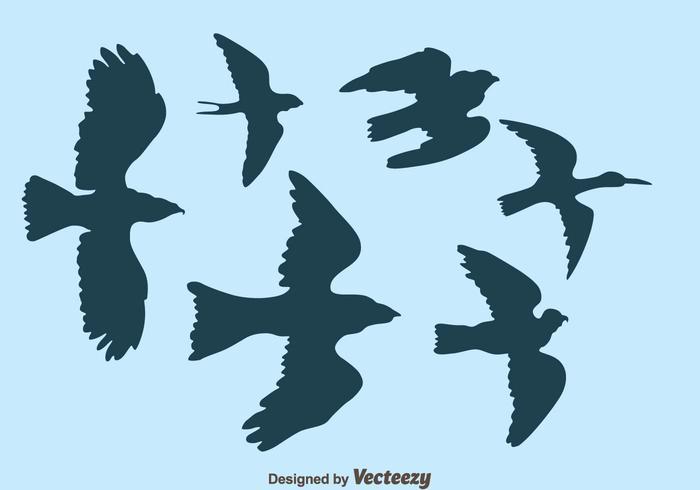 Fliegender Vogel Silhouette Vektor