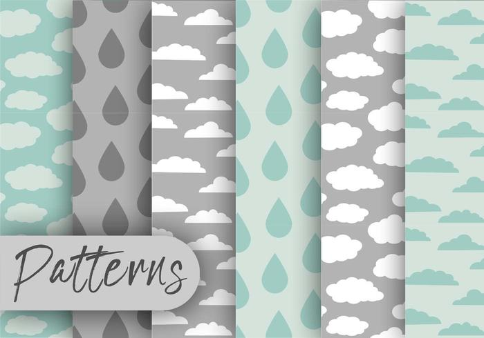 Rainy Cloud Pattern Set