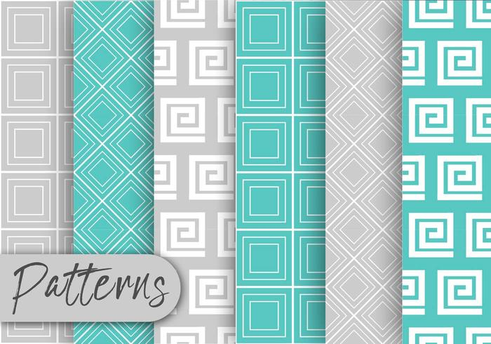 Blue And  Gray Pattern Set