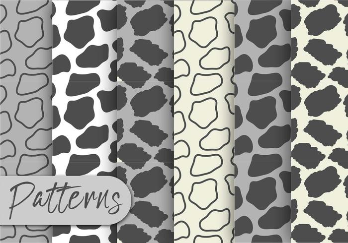 Grå Animal Print Pattern Set