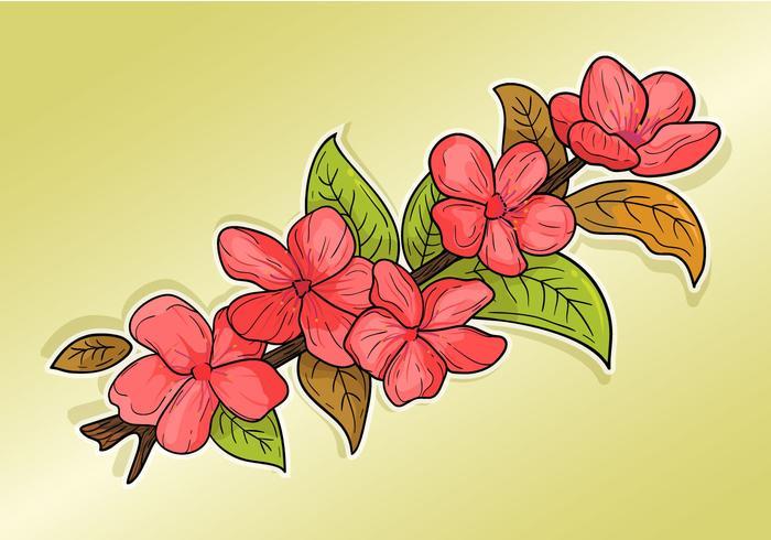 Clipart de fleur de prunier