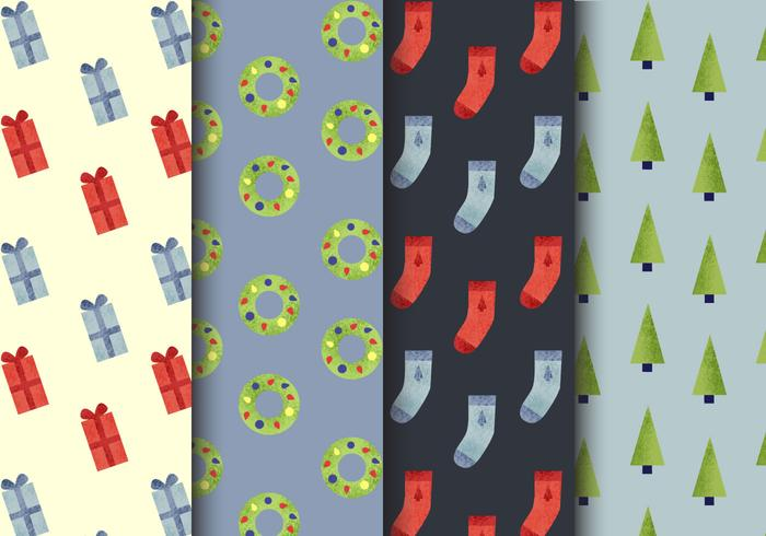 Free Seamless Christmas Patterns