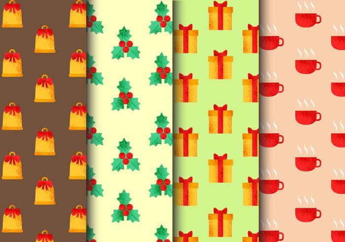 Modèles de Noël sans soudure gratuits vecteur