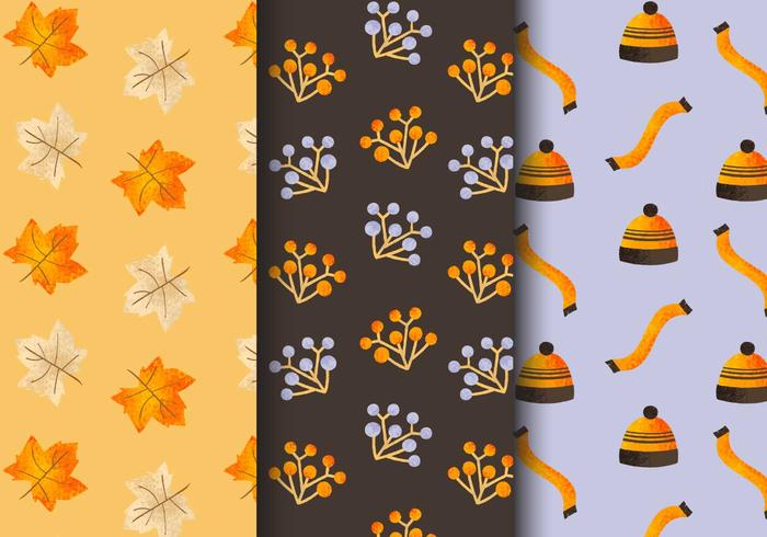 Free Seamless Autumn Patterns