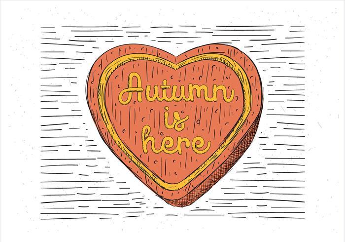 Free Hand Drawn Autumn Cake Illustration