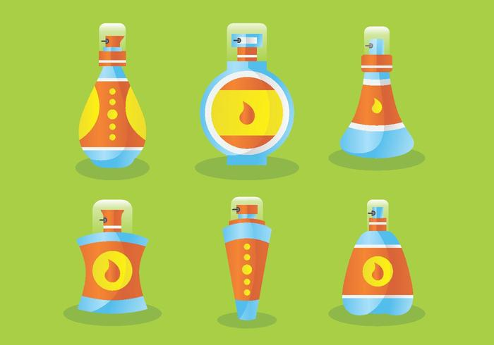 Botellas de perfume con tapones Vector Pack