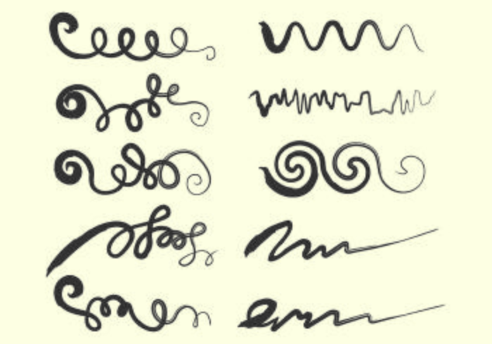 Set Of Squiggle Vector