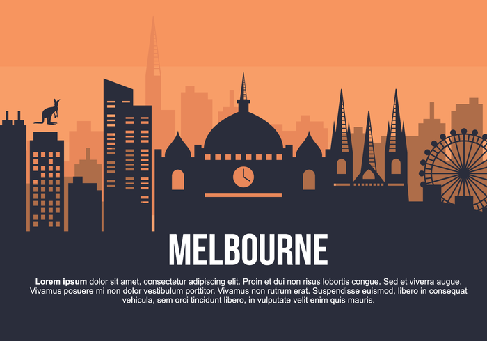 Melbourne City Illustration vectorielle vecteur