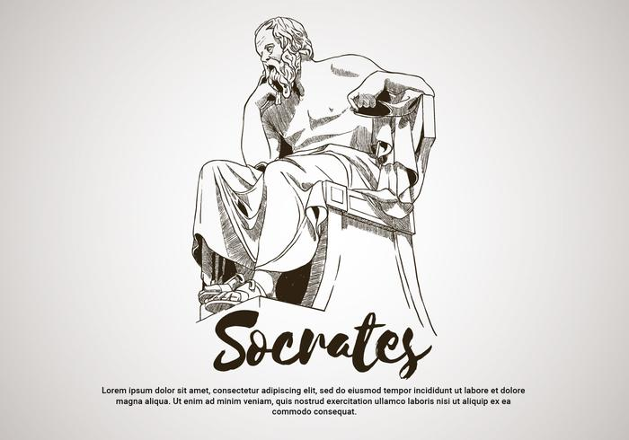 Sokrates handgezeichnete Vektor-Illustration