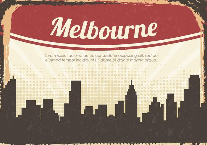 Vintage Silhouette Melbourne City