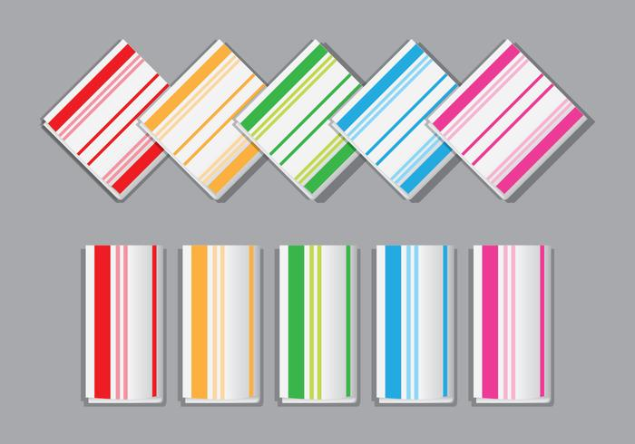 Colorful Striped Napkin Vectors