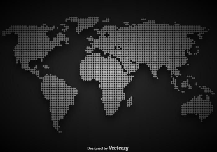 Vector Dotted World Map Illustration