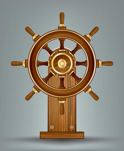 Wooden Ships Wheel Vector