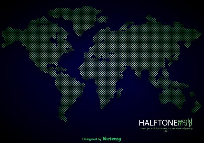Vector High Detailed Dotted World Map Illustration