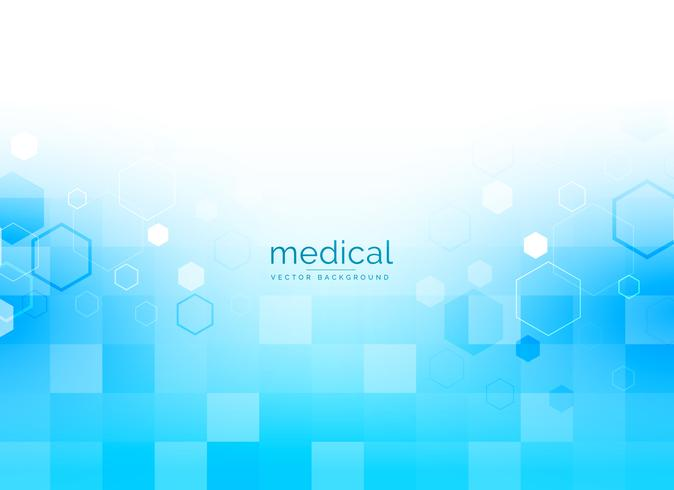 medicinsk bakgrund i ljusblå färg