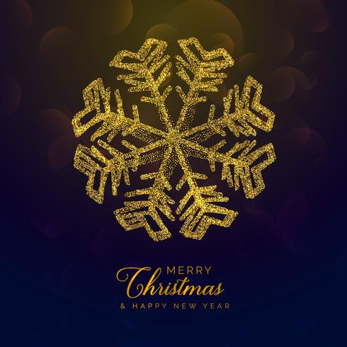 premium chritmas background with golden snowflake made with glit