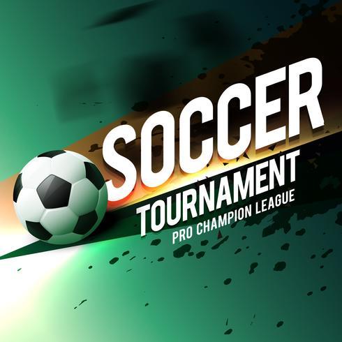 progettazione di volantino di poster di gioco di torneo di calcio