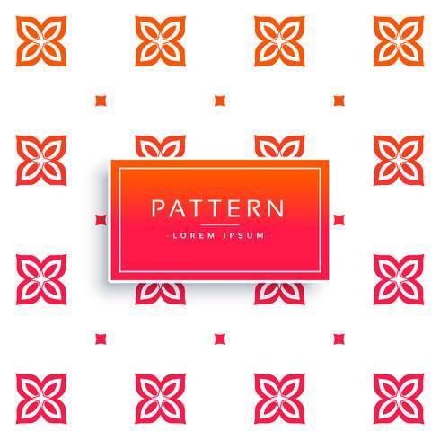 vibrant flower pattern vector background