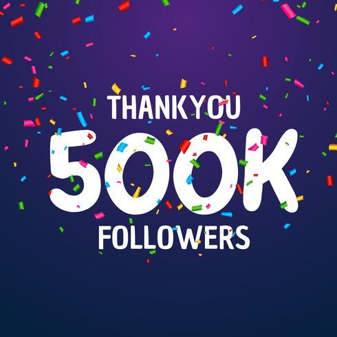 500k volgers viering succes sjabloonontwerp